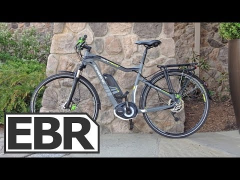 Haibike XDURO Trekking RX Video Review - Touring Electric Bike with Fenders, Rack, 27 Gears