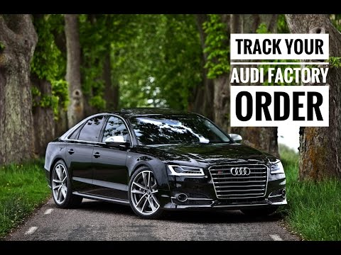 How to Track Your Audi Factory Pre-Order