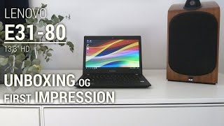 (Данська) компанія Lenovo Е31-80 13.3'' в HD розпакування