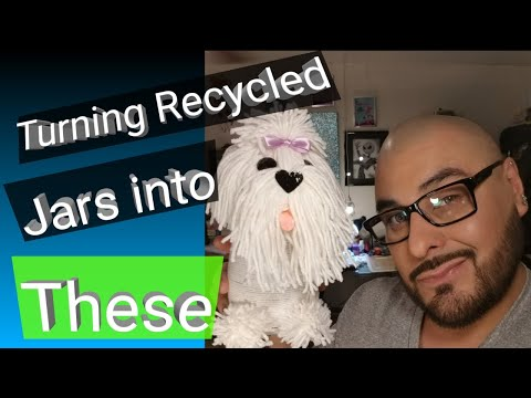 Turning Recycled Jars into dogs - Paper to Masterpiece - DIY Hacks