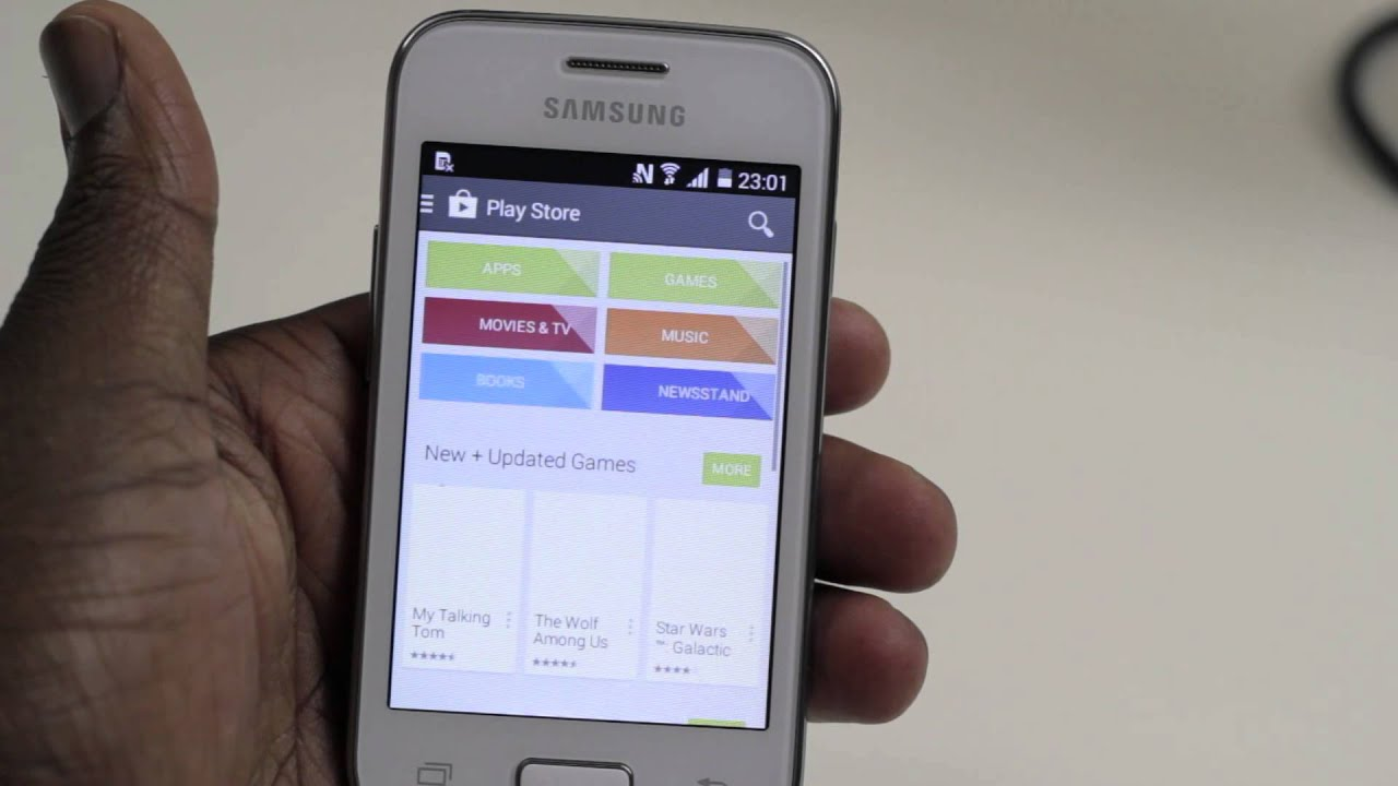 how to download music to your samsung galaxy young