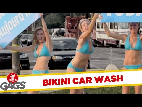funny-bikini-car-wash-prank-old-lady