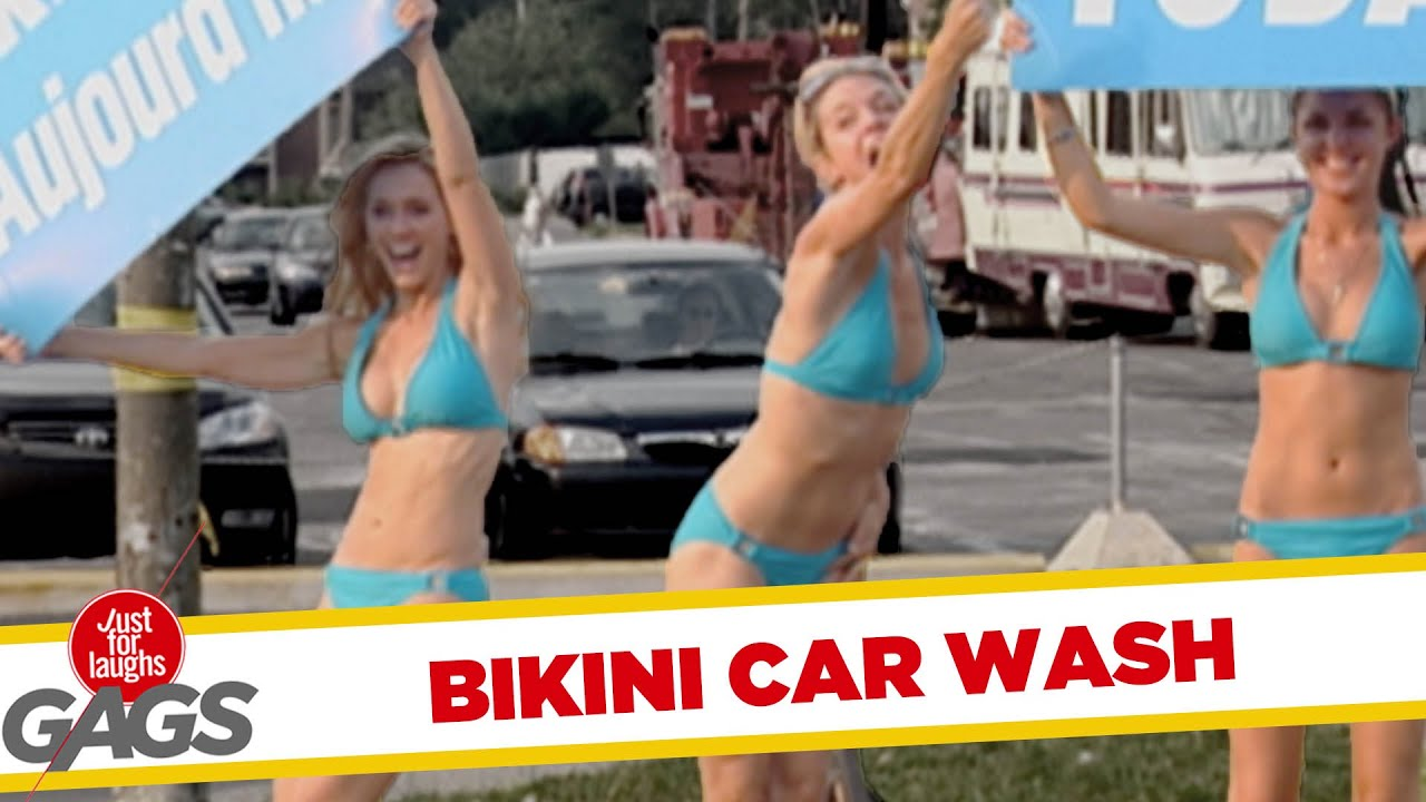 Car picture wash bikini