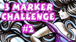 3 MARKER CHALLENGE 2 ! [EB7, PL3 & Arctic Blue]