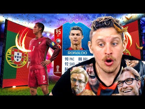 95 WORLD CUP STRIKER RONALDO IN A PACK! INSANE WORLD CUP MODE PACK OPENING! FIFA 18
