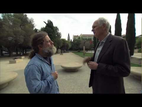 Alan Alda with Robert Sapolsky of Stanford University