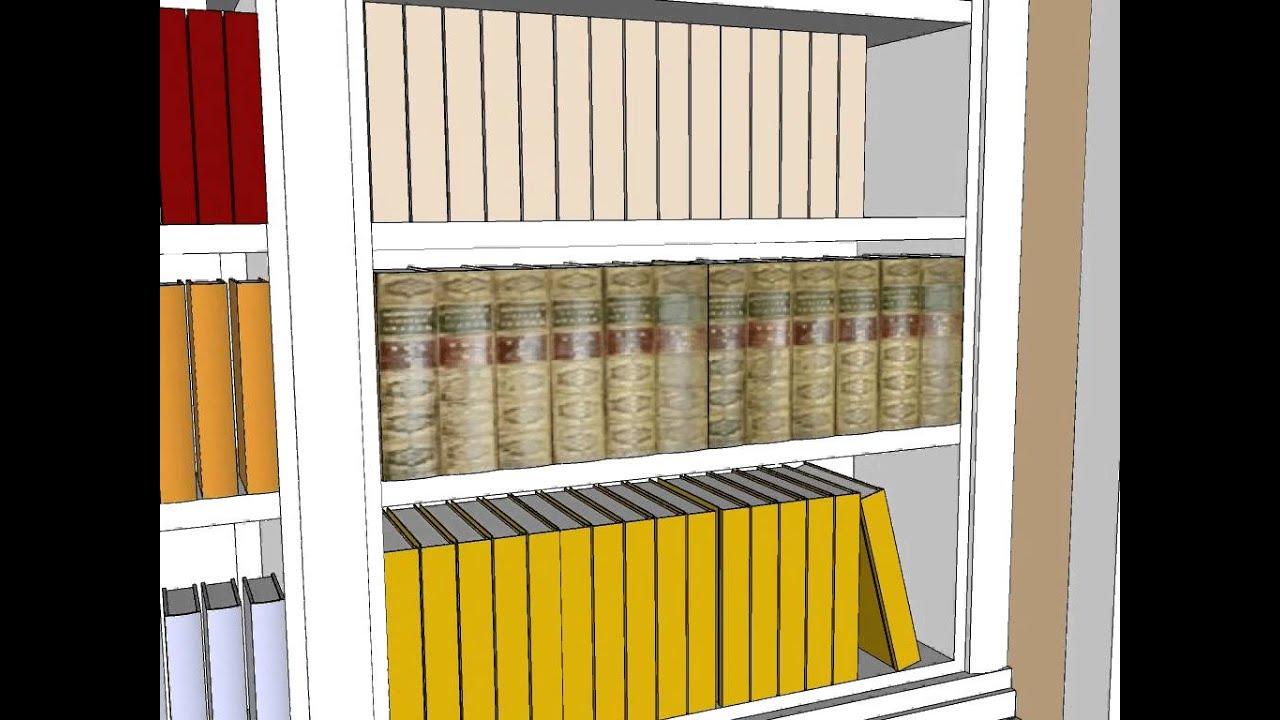 Mueble libreria sin puertas carpinteria santa youtube - Carpinteria santa clara ...