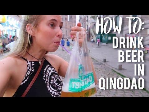 How to drink beer in QINGDAO