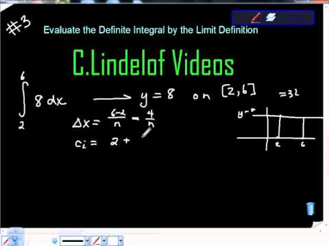 Evaluate the Definite Integral by the Limit Definition 3