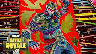 Drawing Fortnite Battle Royale Wukong - Legendary Skin / how to draw wukong / Dibujos de fortnite