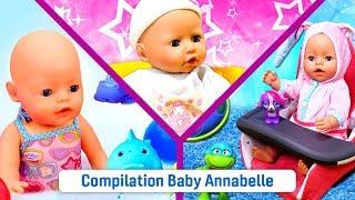 Compilation des meilleures vidéos drôles pour enfants. La vie du poupon bébé born Annabelle