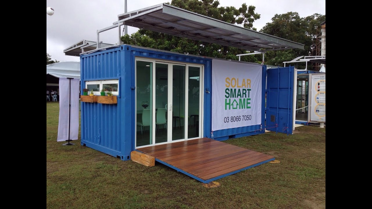 Solar smart home by solar naturally youtube for Smart house container
