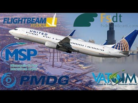 PMDG 737-900 on Vatsim, Chicago to Minneapolis