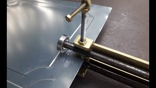 Homemade Sheet Metal Pressing Tool | Sheet Metal Press | Door Decor
