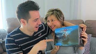 caja sorpresa de god of war con mi madre