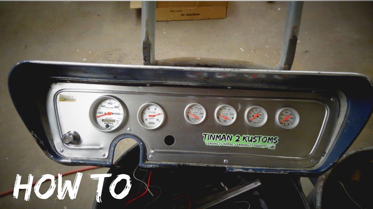how to make gauge cluster for hotrod rat rod [ 1280 x 720 Pixel ]