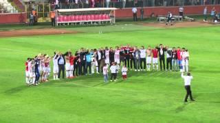 Samsunspor 2 Denizlispor 1 - Süper Lig Aşkına Playoff'a Kaldık - Maç Sonu Kutlama