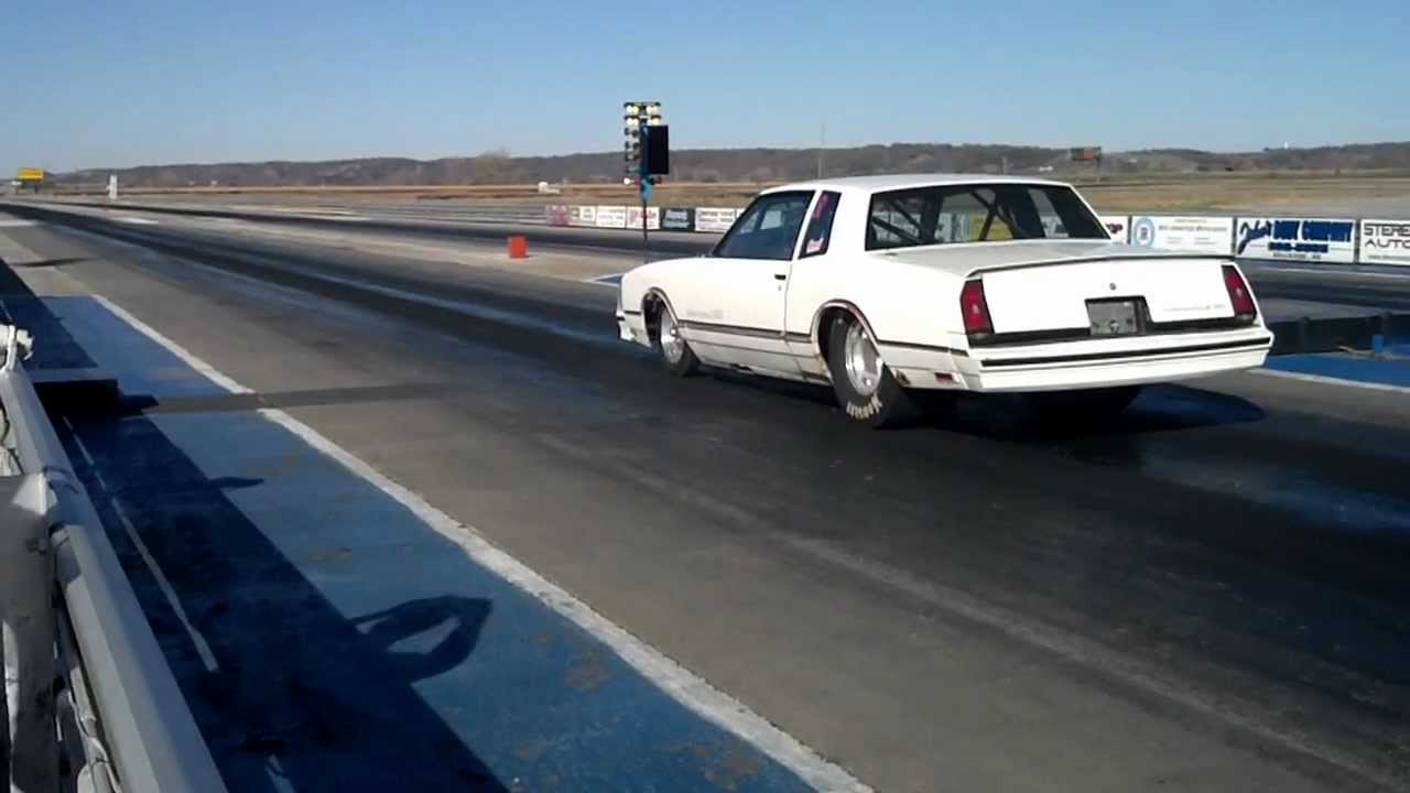 86 Monte Carlo SS Drag Car Launch - YouTube