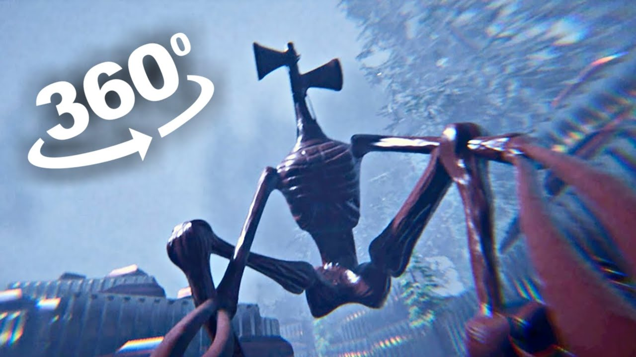 SIREN HEAD 360 Roller Coaster VR  Ride 4K