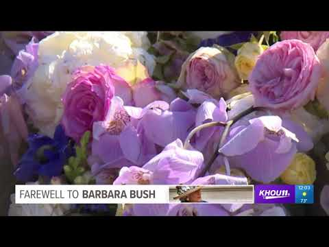 You can now visit Barbara Bush's grave in College Station, TX
