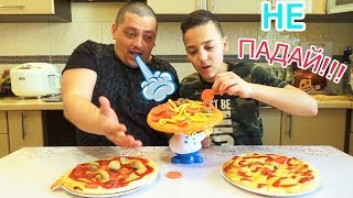 Пицца Челлендж PIZZA CHALLENGE Настольная Игра против НАСТОЯЩЕЙ ЕДЫ Board Game vs Real Good
