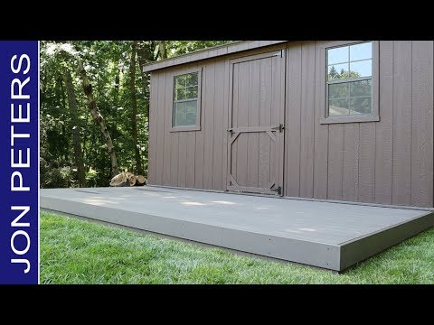 How To Install Composite Decking, ZomeTek Bamboo Composite Decking