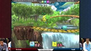 [.dijon//Saiten Xe] W¼F - Dr. Crow (Kirby) Vs. Yoshi (Pikachu) - Project M