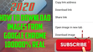How to download images from google chrome