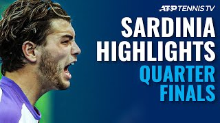 Musetti, Fritz, Basilashvili \u0026 Struff Fight For Semi-Finals | Sardinia 2021 Quarter-Final Highlights