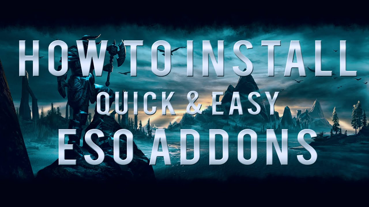 How to install quick & easy ESO Addons