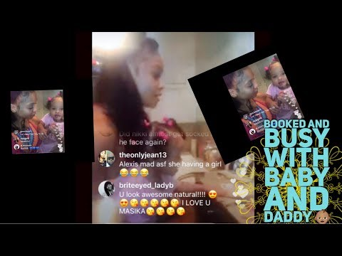 MASIKA  and her daughter FACE TIME WITH FETTY WAP /
