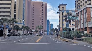 Driving Downtown - Myrtle Beach South Carolina USA