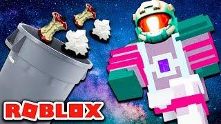 Danish Roblox Space Trash Tycoon #1-GARBAGE MAN in space