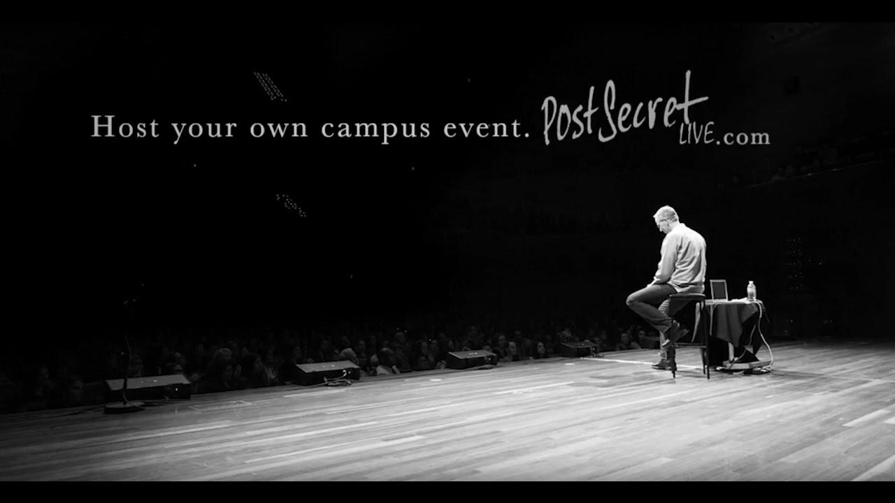 PostSecret Live On Campus
