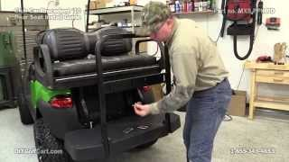 Max 5 Rear Seat Kit | Club Car Precedent | How To Install On Golf Cart