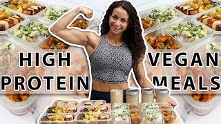 EASY HighProtein VEGAN Meal Prep | Cook With Me