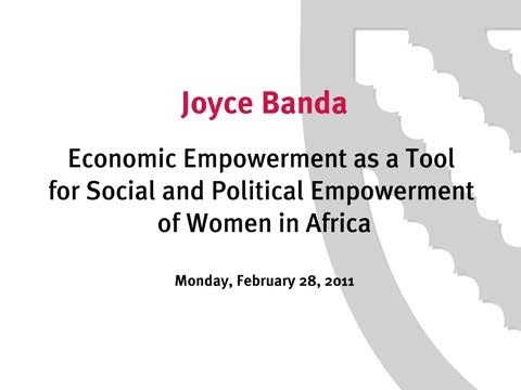Economic Empowerment as a Tool for Social and Political Empo