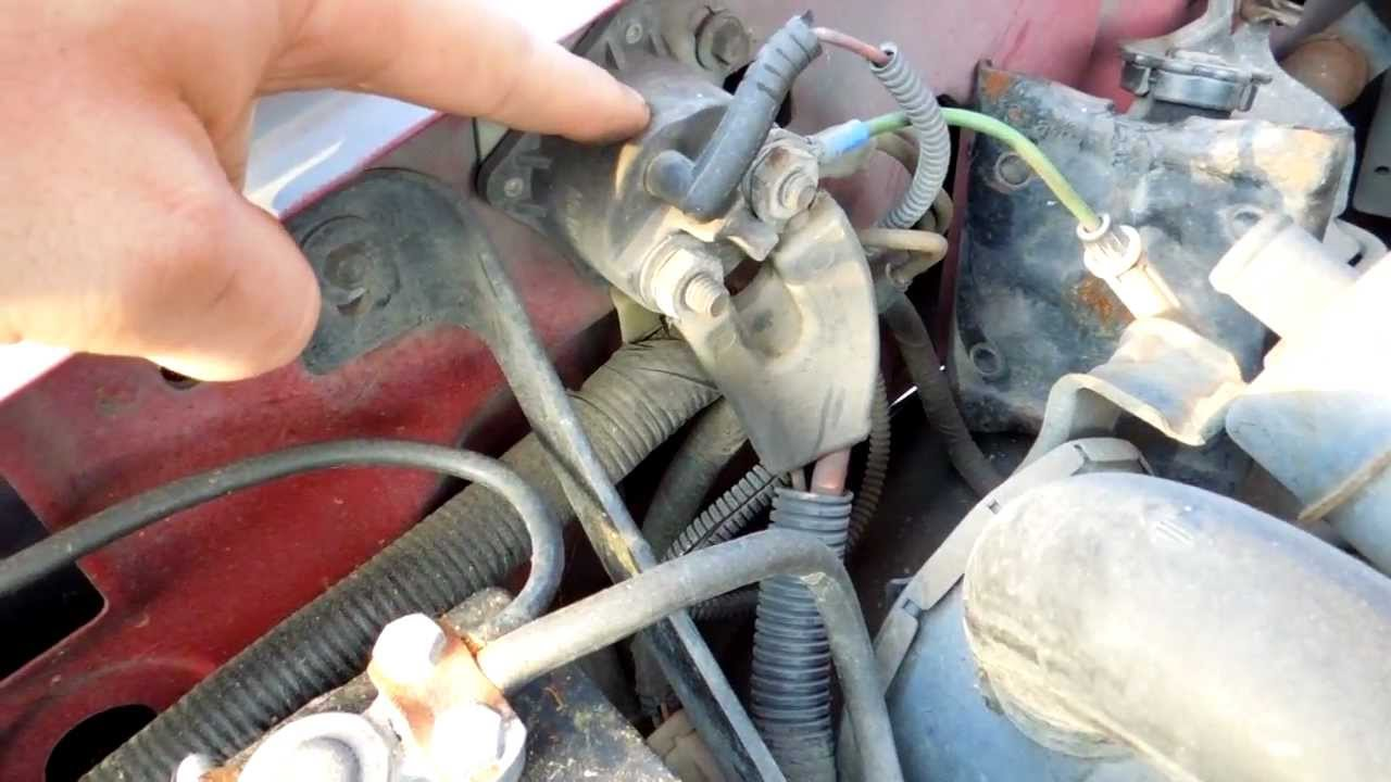 1994 Ford F150 5.8L EFI Starter Solenoid Relay Location - YouTube
