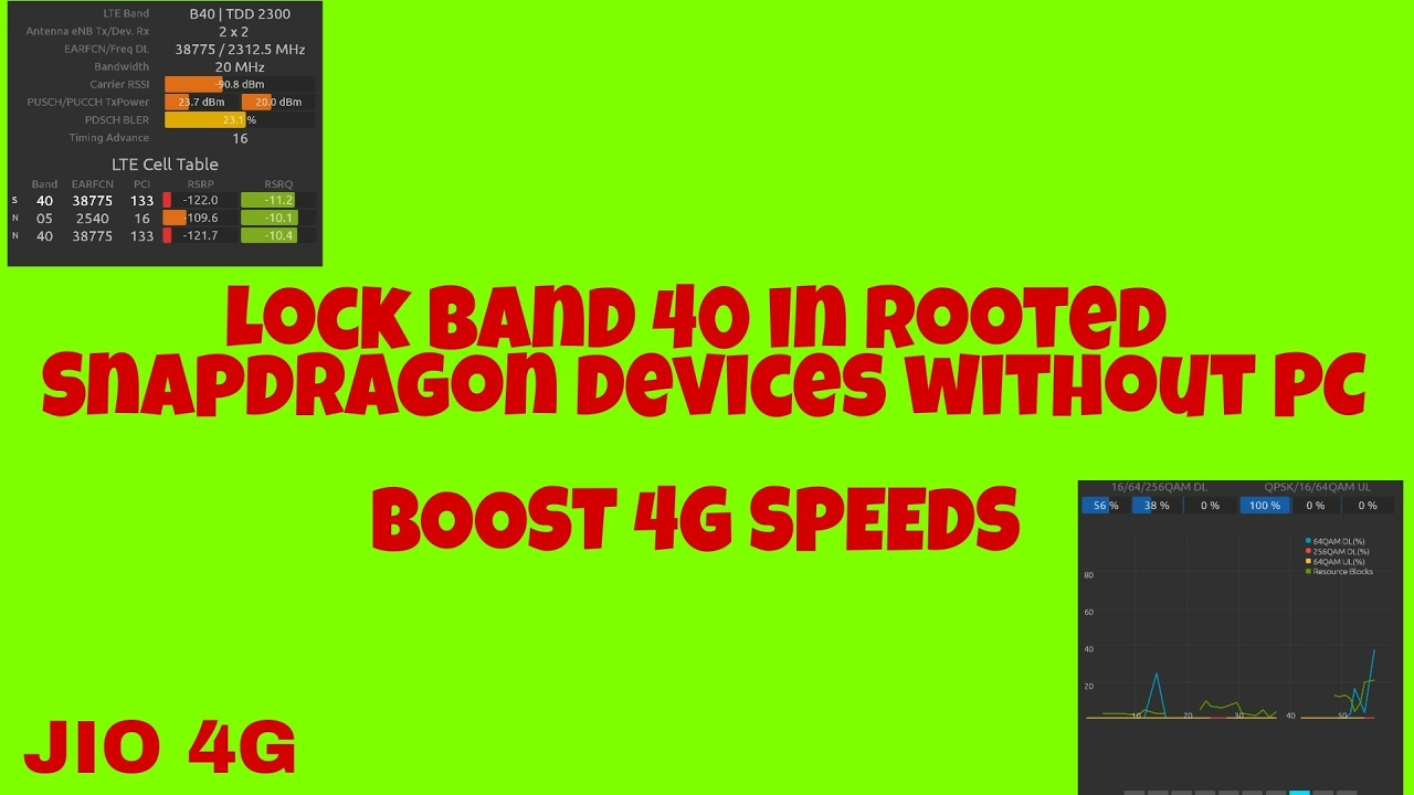 INCREASE LTE SPEED !! Lock Bands in SNAPDRAGON devices without PC [ROOTED]