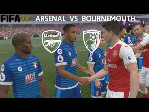 FIFA 17 (PS4 Pro) Arsenal v Bournemouth PREMIER LEAGUE 09/09/2017 REPLAY SIM MATCH 1080P 60FPS