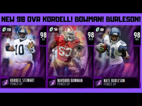 **MADDEN 20** NEW 98 PU PLAYERS IN GAME! KORDELL STEWART! NaVORRO BOWMAN! NATE BURLESON!