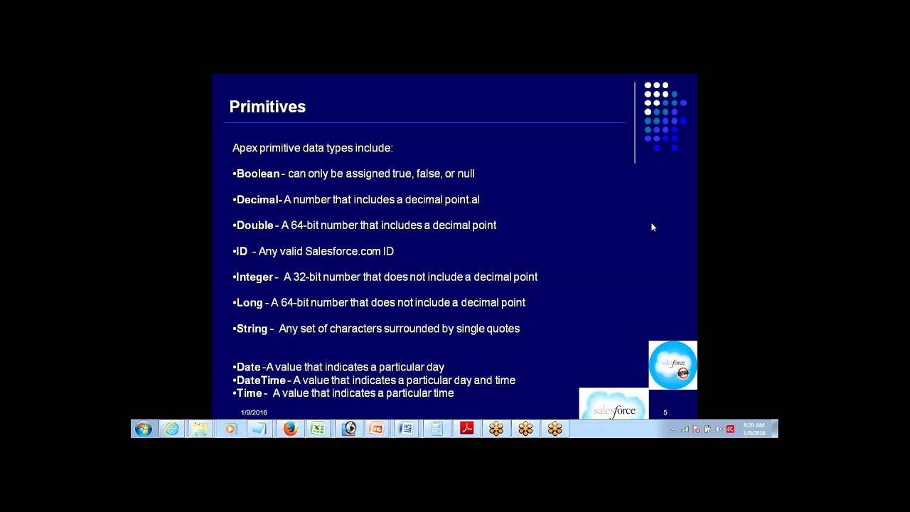 Understanding Apex and it's Data Types & Syntax | Salesforce |  www jeet-singh com