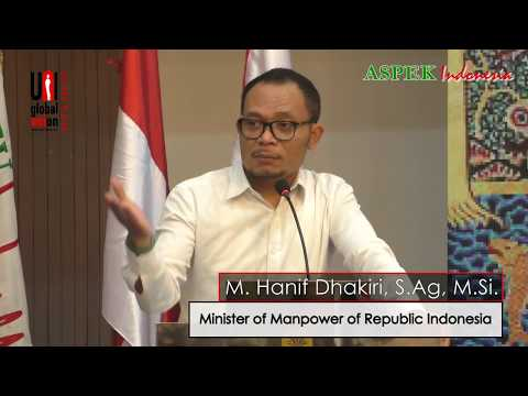 M. Hanif Dhakiri Speech at 5th UNI APRO Commerce & Finance Joint Conference in Indonesia