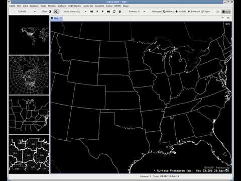 Changing from One to Five Panes in AWIPS