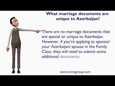 What marriage documents are unique to Azerbaijan?