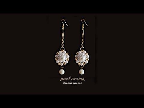 Pearl And Metal Bead Earrings Tutorial Fashion Jewelry DIY
