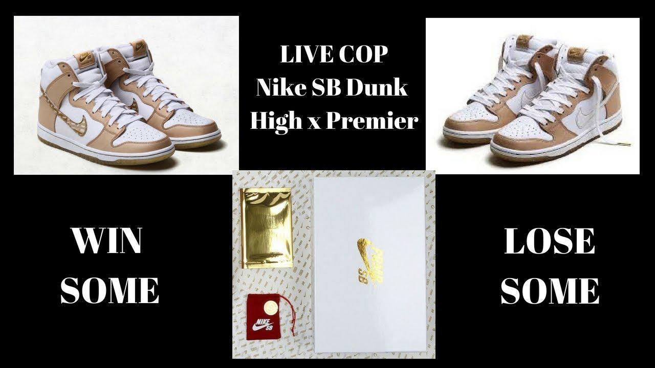 newest 925bd e2bfc LIVE COP: Nike SB Dunk High X Premier