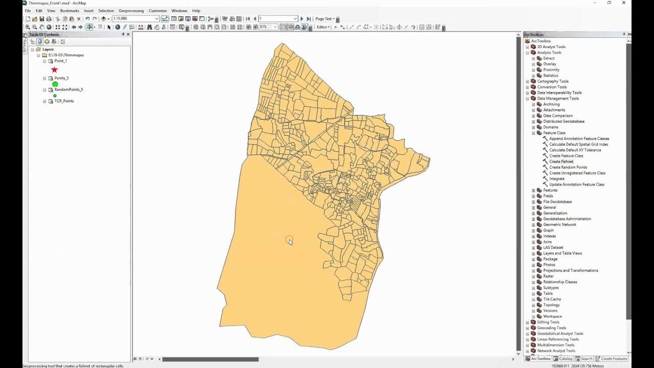 ArcGIS 10 2 - Create Fishnet - Create polygon grid