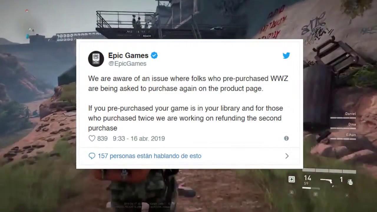 Un error en la Epic Games Store obliga a reembolsar unidades de World War Z