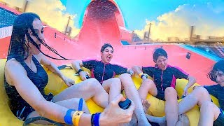 CRAZIEST WATERPARK WITH 3 Girls *YAS WATERWORLD* !!!